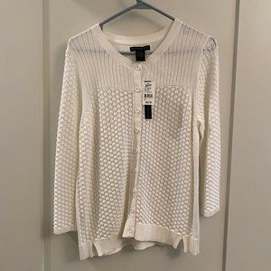 Sweaters - White Knit Cardigan (NWT)